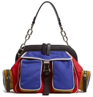 Marni Zip Pocket Nylon Bag - Womens - Blue Multi