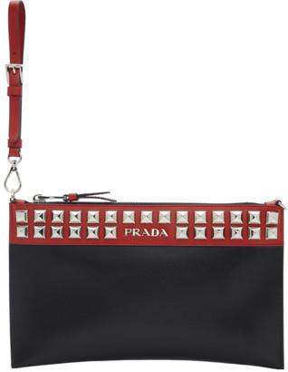 Prada Black and Red Elektra Pouch