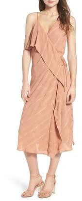 Line & Dot Yoanna Ruffle Trim Wrap Dress