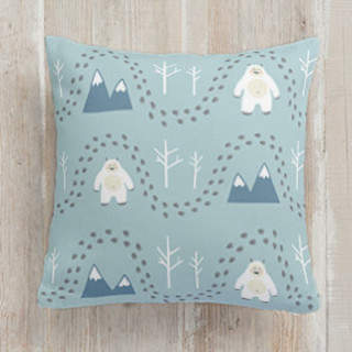 Abominable Snowman Square Pillow