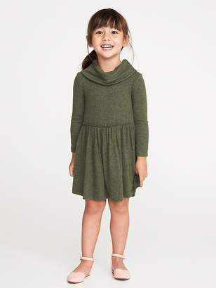 Old Navy Fit & Flare Plush-Knit Cowl-Neck Dress for Toddler Girls