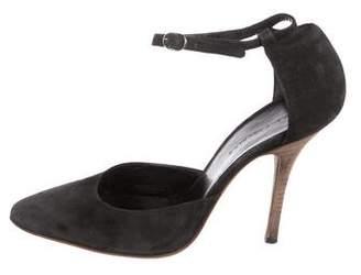Balenciaga Suede Ankle Strap Pumps