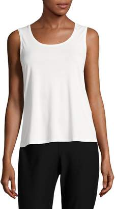 Eileen Fisher System Stretch Silk Tank Top