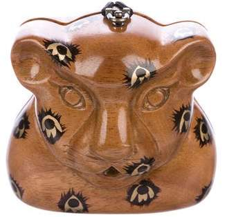Timmy Woods Carved Leopard Bag