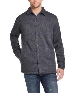 Weatherproof Vintage Men's Fleece Lined Shirt Jacket