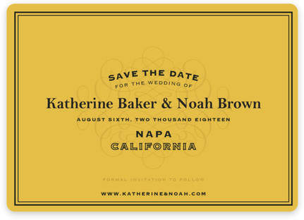 Label Save the Date Magnets