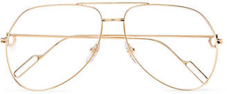 Cartier Eyewear Aviator-Style Gold-Tone Optical Glasses