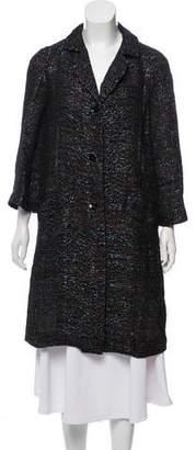 Peter Som Embellished Wool-Blend Coat
