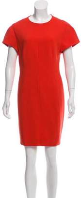 Narciso Rodriguez Short Sleeve Mini Dress Orange Short Sleeve Mini Dress