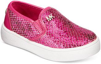Michael Kors Little Girls' or Girls' Slip-On Sneakers $49 thestylecure.com