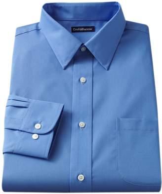 Croft & Barrow Men's Slim-Fit Solid Easy Care Point-Collar Dress Shirt