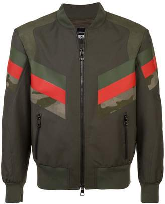 Neil Barrett panelled stripe bomber jacket