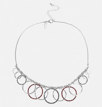 Avenue Red Stone Circle Necklace