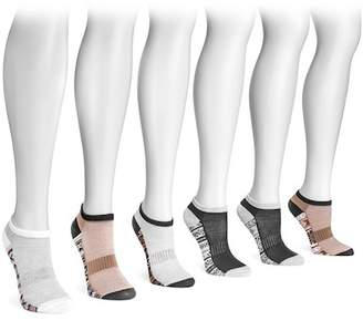 Muk Luks No Show Compression Arch Socks - Pack of 6