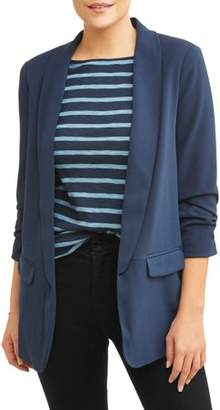 Time and Tru Women's Long Blazer