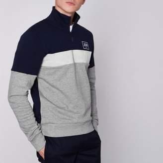 River Island Jack and Jones Core grey zip neck sweatshirt