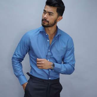Business dress shirt in petrol blue