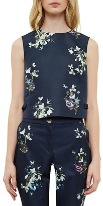 Ted Baker Samsa Entangled Enchantment Crop Top $195 thestylecure.com