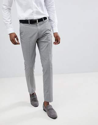 Moss Bros skinny pants in gray houndstooth