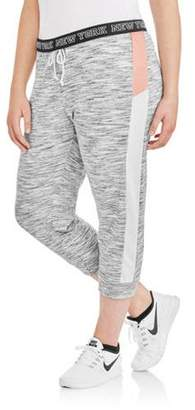 Active Women's Plus Colorblock Fold-Over Jogger