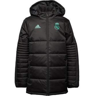 3309d42e2 adidas Junior Boys RMCF Real Madrid Winter Jacket Black/Solid Grey
