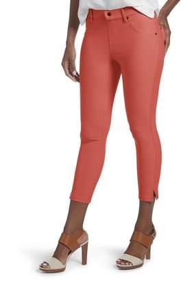 Hue Women's Ankle Slit Essential Denim Capri Leggings, Sandbar, M