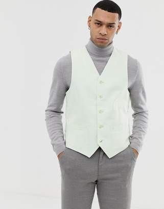 Gianni Feraud Wedding 55% Linen Slim Fit Waistcoat