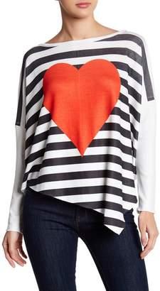 Couture Go Asymmetrical Hem Dolman Sweater