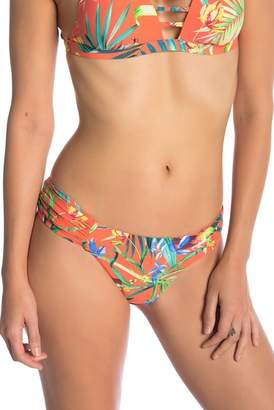 Lucky Brand Lush Leaf Reversible Ruched Hipster Bottom