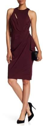 Vera Wang Sleeveless Draped Cocktail Dress