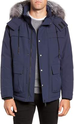 Mackage Tricolor Genuine Fur Trim Down Jacket