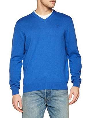 Daniel Hechter Men's V Neck Pullover Jumper, Blue 660, M