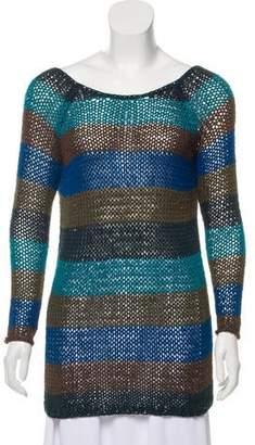 Theory Rib Knit Striped Top w/ Tags