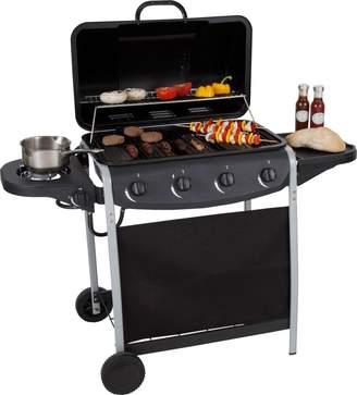 Unbranded 4 Burner Propane Gas BBQ with Side Burner