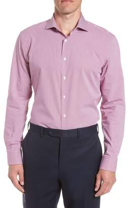 Nordstrom Tech-Smart Trim Fit Houndstooth Dress Shirt