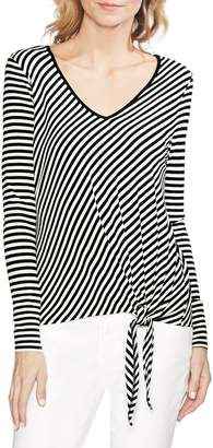 Vince Camuto Stripe Tie Front Top