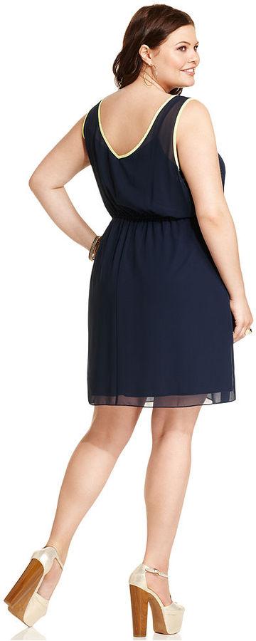 Soprano Plus Size Dress, Sleeveless A-Line