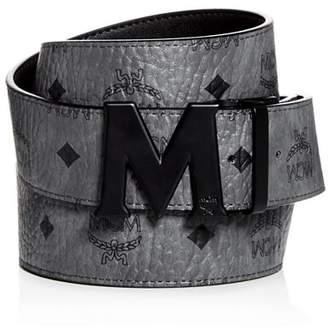 MCM Claus Matte Logo Buckle Reversible Belt
