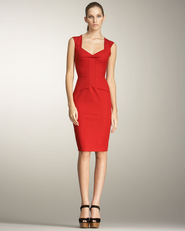 Roland Mouret Lush Tie-Back Dress