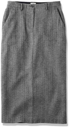 L.L. Bean (エルエルビーン) - ウィークエンド・ミッド・レングス・スカート、ヘリンボーン