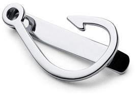 Miansai Hook Tie Bar, Silver
