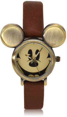 DISNEY MICKEY MOUSE Disney Mickey Mouse Brown Bracelet Unisex Watch-Mk5250jc
