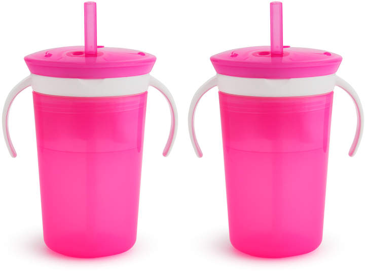 Pink SnackCatch & Sip 2-in-1 Snack Catcher/Spill-Proof Cup Set