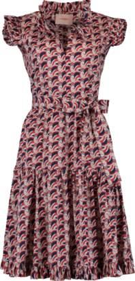 LA DOUBLE J Ruffle Neck Sassy Dress