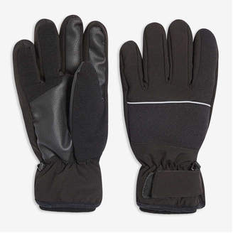 Joe Fresh Men's Ski Gloves, Black (Size L/XL)