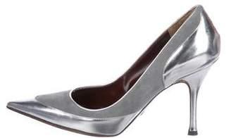 Dolce & Gabbana Metallic Pointed-Toe Pumps