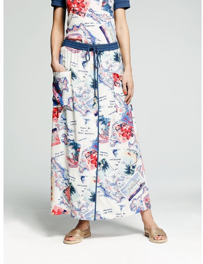 Peter Som for designation postcard maxi skirt - women's