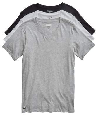 Lacoste 3-Pack Slim Fit V-Neck T-Shirts