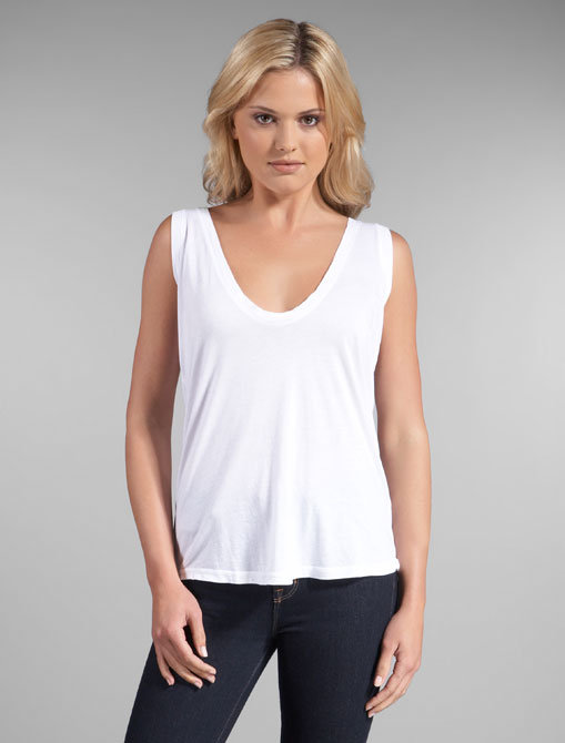 Daftbird Deep Scoop V Sleeveless Tank