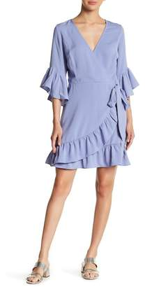 Lucy Paris Bell Sleeve Wrap Dress
